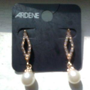 Earrings with Dangling Pearls